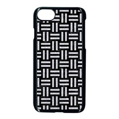 Woven1 Black Marble & Silver Glitter (r) Apple Iphone 8 Seamless Case (black)