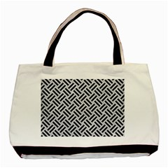 Woven2 Black Marble & Silver Glitter Basic Tote Bag by trendistuff