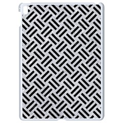 Woven2 Black Marble & Silver Glitter Apple Ipad Pro 9 7   White Seamless Case by trendistuff