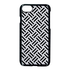 Woven2 Black Marble & Silver Glitter Apple Iphone 8 Seamless Case (black)