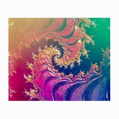 Rainbow Octopus Tentacles In A Fractal Spiral Small Glasses Cloth by jayaprime