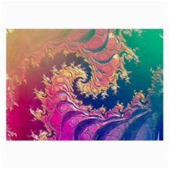 Rainbow Octopus Tentacles In A Fractal Spiral Large Glasses Cloth (2 Side) by beautifulfractals