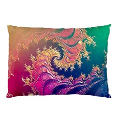 Rainbow Octopus Tentacles In A Fractal Spiral Pillow Case by jayaprime