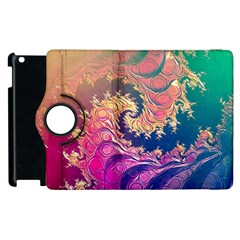 Rainbow Octopus Tentacles In A Fractal Spiral Apple Ipad 3/4 Flip 360 Case by jayaprime