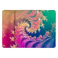 Rainbow Octopus Tentacles In A Fractal Spiral Samsung Galaxy Tab 10 1  P7500 Flip Case by jayaprime