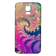 Rainbow Octopus Tentacles In A Fractal Spiral Samsung Galaxy S5 Back Case (white) by beautifulfractals