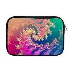 Rainbow Octopus Tentacles In A Fractal Spiral Apple Macbook Pro 17  Zipper Case by jayaprime