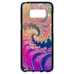 Rainbow Octopus Tentacles In A Fractal Spiral Samsung Galaxy S8 Black Seamless Case by jayaprime