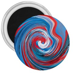 Red And Blue Rounds 3  Magnets by berwies