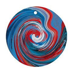 Red And Blue Rounds Ornament (round) by berwies