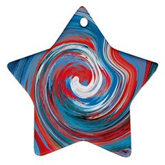 Red And Blue Rounds Ornament (star) by berwies