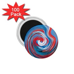 Red And Blue Rounds 1 75  Magnets (100 Pack)  by berwies