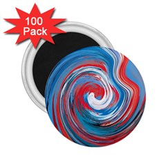 Red And Blue Rounds 2 25  Magnets (100 Pack)  by berwies