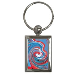 Red And Blue Rounds Key Chains (rectangle)  by berwies