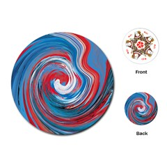 Red And Blue Rounds Playing Cards (round)  by berwies