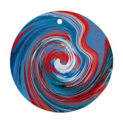 Red And Blue Rounds Round Ornament (two Sides) by berwies