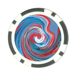 Red And Blue Rounds Poker Chip Card Guard (10 Pack) by berwies