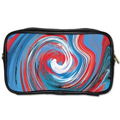Red And Blue Rounds Toiletries Bags 2 Side by berwies