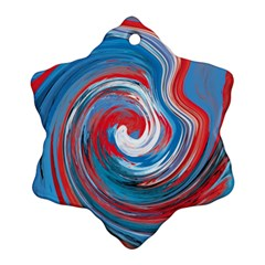 Red And Blue Rounds Ornament (snowflake) by berwies