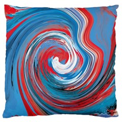 Red And Blue Rounds Large Cushion Case (two Sides) by berwies