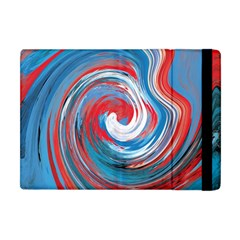Red And Blue Rounds Apple Ipad Mini Flip Case by berwies