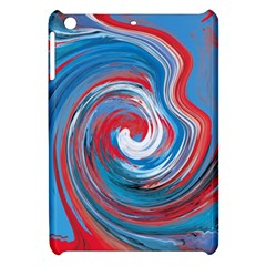 Red And Blue Rounds Apple Ipad Mini Hardshell Case by berwies