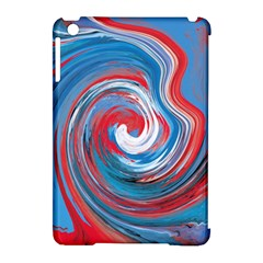 Red And Blue Rounds Apple Ipad Mini Hardshell Case (compatible With Smart Cover) by berwies