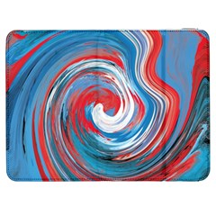 Red And Blue Rounds Samsung Galaxy Tab 7  P1000 Flip Case by berwies