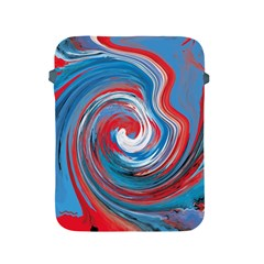 Red And Blue Rounds Apple Ipad 2/3/4 Protective Soft Cases by berwies