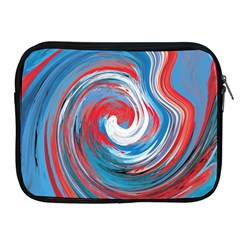 Red And Blue Rounds Apple Ipad 2/3/4 Zipper Cases by berwies