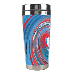 Red And Blue Rounds Stainless Steel Travel Tumblers by berwies