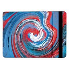 Red And Blue Rounds Samsung Galaxy Tab Pro 12 2  Flip Case by berwies