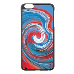 Red And Blue Rounds Apple Iphone 6 Plus/6s Plus Black Enamel Case by berwies