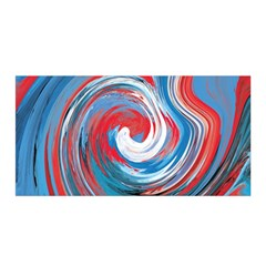 Red And Blue Rounds Satin Wrap by berwies