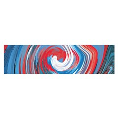 Red And Blue Rounds Satin Scarf (oblong) by berwies
