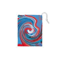 Red And Blue Rounds Drawstring Pouches (xs)  by berwies