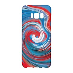 Red And Blue Rounds Samsung Galaxy S8 Hardshell Case  by berwies