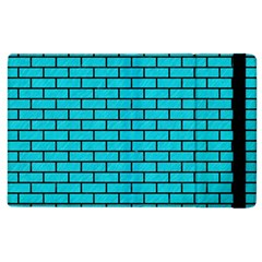 Brick1 Black Marble & Turquoise Colored Pencil Apple Ipad 3/4 Flip Case by trendistuff