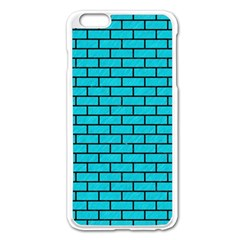 Brick1 Black Marble & Turquoise Colored Pencil Apple Iphone 6 Plus/6s Plus Enamel White Case by trendistuff