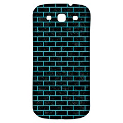 Brick1 Black Marble & Turquoise Colored Pencil (r) Samsung Galaxy S3 S Iii Classic Hardshell Back Case by trendistuff
