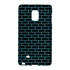 Brick1 Black Marble & Turquoise Colored Pencil (r) Galaxy Note Edge by trendistuff