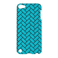 Brick2 Black Marble & Turquoise Colored Pencil Apple Ipod Touch 5 Hardshell Case by trendistuff