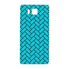 Brick2 Black Marble & Turquoise Colored Pencil Samsung Galaxy Alpha Hardshell Back Case by trendistuff