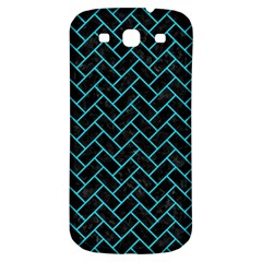 Brick2 Black Marble & Turquoise Colored Pencil (r) Samsung Galaxy S3 S Iii Classic Hardshell Back Case by trendistuff
