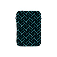 Brick2 Black Marble & Turquoise Colored Pencil (r) Apple Ipad Mini Protective Soft Cases by trendistuff