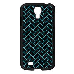 Brick2 Black Marble & Turquoise Colored Pencil (r) Samsung Galaxy S4 I9500/ I9505 Case (black) by trendistuff