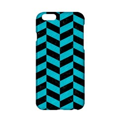 Chevron1 Black Marble & Turquoise Colored Pencil Apple Iphone 6/6s Hardshell Case