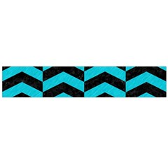 Chevron2 Black Marble & Turquoise Colored Pencil Large Velour Scarf  by trendistuff