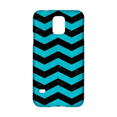 Chevron3 Black Marble & Turquoise Colored Pencil Samsung Galaxy S5 Hardshell Case  by trendistuff