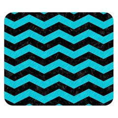 Chevron3 Black Marble & Turquoise Colored Pencil Double Sided Flano Blanket (small)  by trendistuff